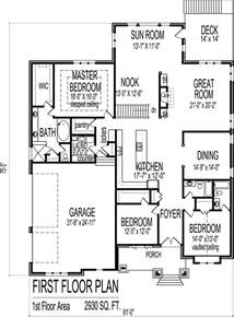 3 bedroom bungalow house floor plans designs single story attractive 3 bedroom bungalow plan 23491jd 2nd floor