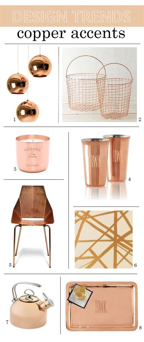 copper decor accents 2015 design trends copper home accents www