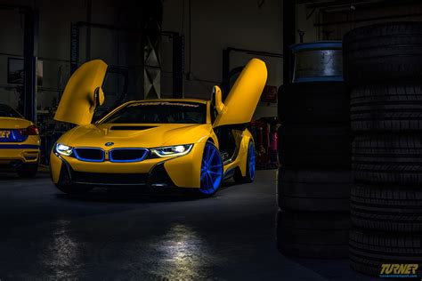 bmw i8 modified custom yellow bmw i8 by turner motorsport for sale gtspirit
