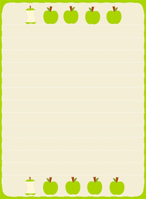 free printable apple stationery 6 best images of free printable apple borders simple