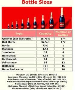 wine bottle sizes names images