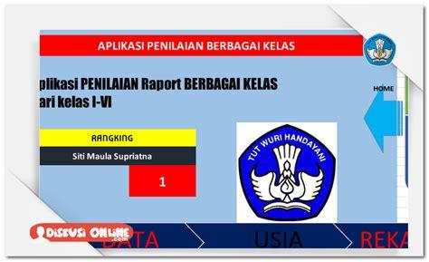 format buku raport sd ktsp aplikasi raport sd berbasis ktsp berkas kurikulum 2013