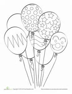 Balloon Coloring Page First Gradegif sketch template
