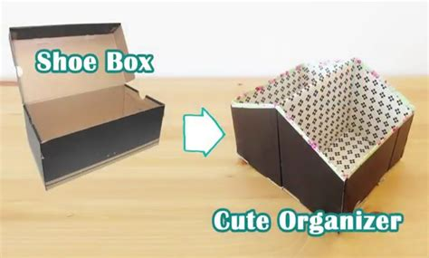 how to make shoe boxes for storage diy storage ideas recycled shoe box organizer craft diy