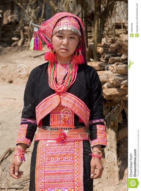 hmong woman  laos stock photo image  people