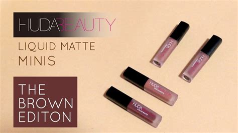 Huda Mini Edition Brown Edition 大踩雷 huda liquid matte minis brown edition 太后娘娘