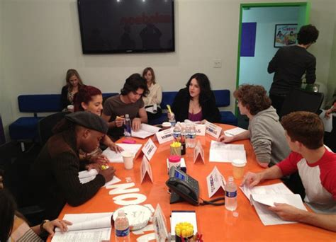 Table Read by Table Read Avan And Sitting Next To Each Other Avan Jogia And Grande Photo