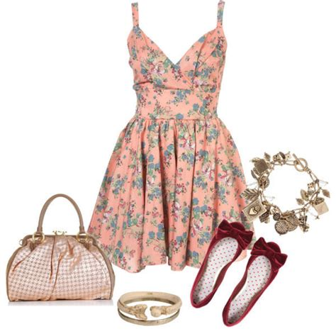 closet dress floral pattern romantic style women s size uk 20 great polyvore combinations with dresses for the hot days