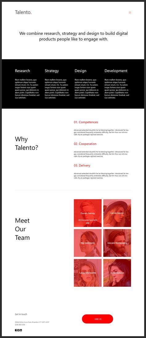 free portfolio templates free portfolio showcase template adobe xd bypeople
