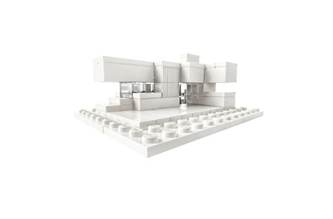 Buy Furniture And Book A With Aris Studio by Freeform Architecture Lego Kit In Monochrome White D I