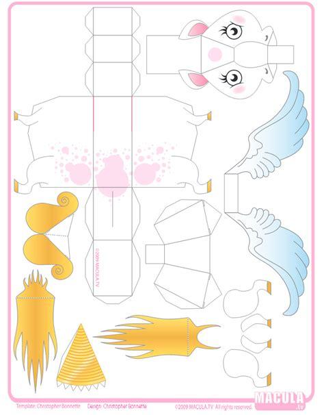 Papercraft Unicorn Template