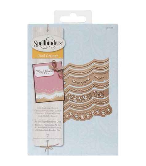 a2 scallop card template 284 best images about spellbinders dies on