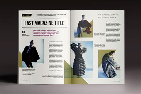 magazine templates for indesign magazine brochure indesign templates on behance