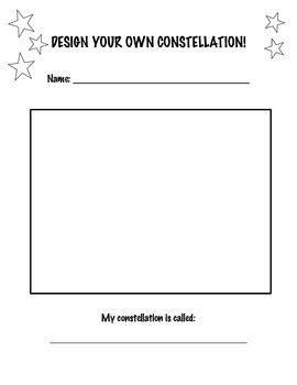 Create Your Own Constellation By Rebecca Sacash Tpt Create Your Own Worksheet Template