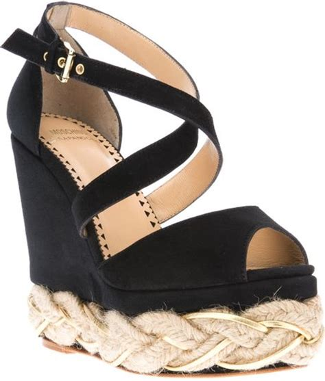 wedges sandals cheap moschino cheap chic braided platform wedge sandal in