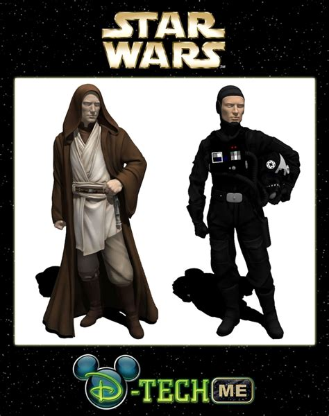 d tech figure wdwthemeparks news jedi and tie fighter