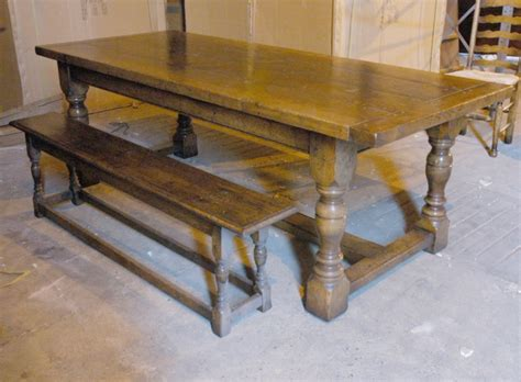 oak rustic refectory table bench dining set