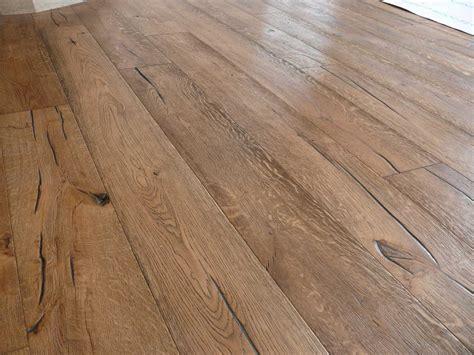 Distressed Vintage Oak Engineered Flooring - unfinished distressed engineered oak with granwax antiqued