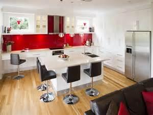 Cheap Kitchen Island modern kitchen with red backsplash stroovi
