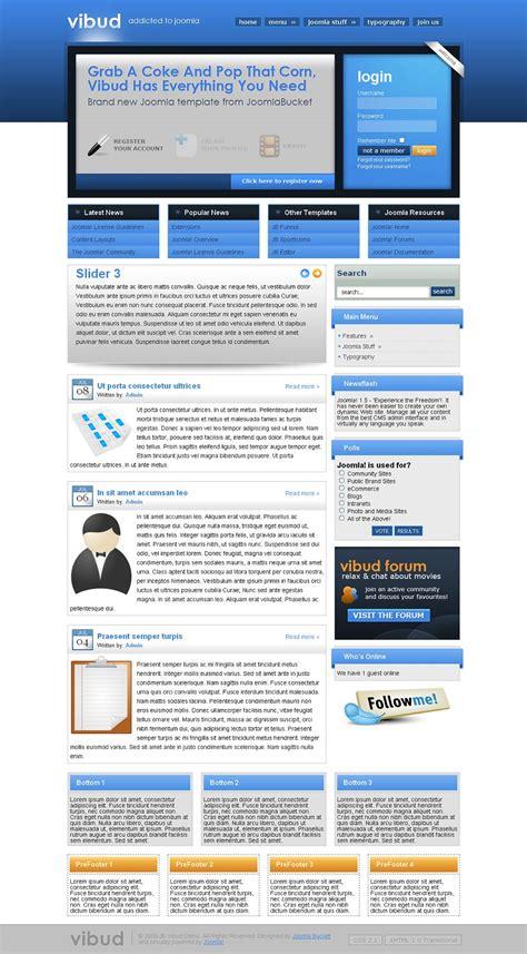 Vibud Joomla Template Joomla Business Portal Theme Joomlabucket Joomla Template Developer