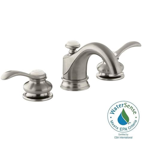 shop kohler fairfax vibrant brushed nickel 2 handle high kohler fairfax 8 in widespread 2 handle water saving
