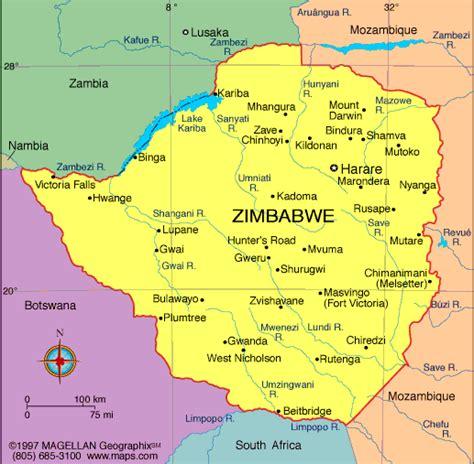 atlas zimbabwe map infoplease