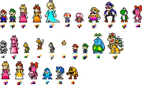 pixelated mario characters pixelated mario characters pixelated mario characters