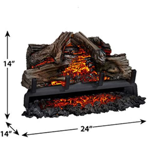 24 inch electric fireplace insert napoleon 24 quot woodland electric fireplace log set nefi24h