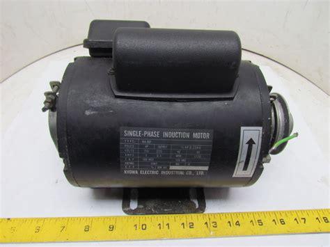 electrical single phase induction motor kyowa electric wa def 1ph single phase induction motor 1 3hp 115 220v 1720 rpm ebay