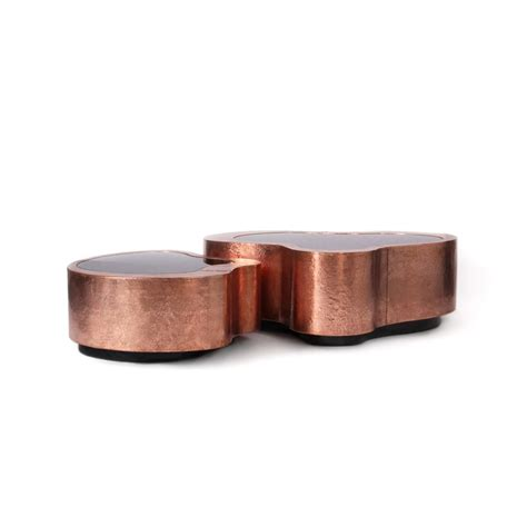 copper coffee table luxury copper coffee table large