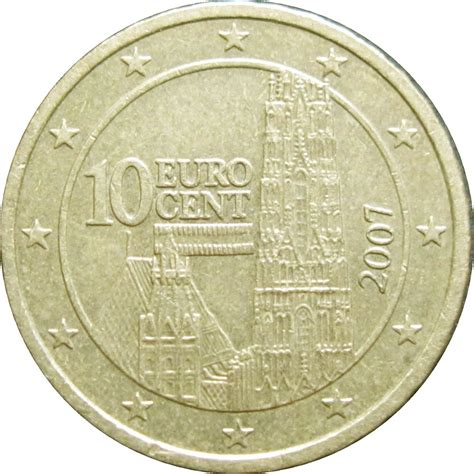 10 buro cent 10 cent 1st map austria numista