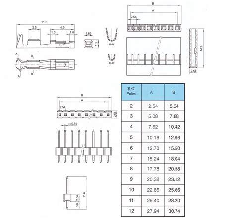 2x6 Pin 12p 254mm Row Pin Header 100pcs 2x6 12 pin dupont jumper wire cable housing