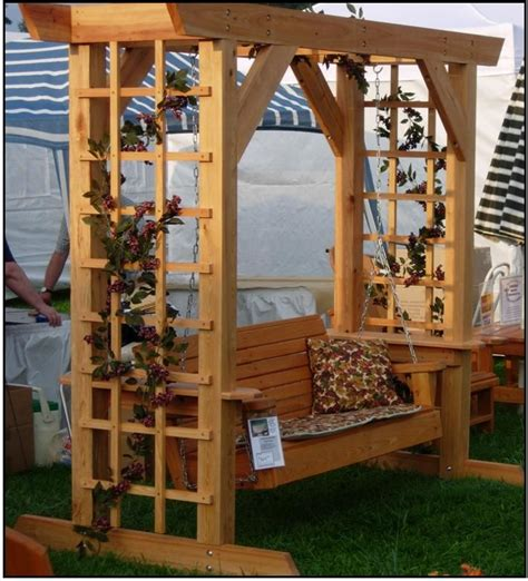 trellis with swing porch swing arbor plans woodworking projects plans