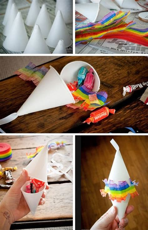How To Make Mexican Paper Decorations - how to make mini pi 241 atas favor no paper m 226 ch 233