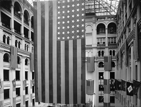 american flag at post office photograph by everett