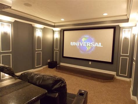 Home Theater Room Wall Design by Cmh Builders Inc Indianapolis In 46268 Angies List