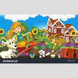 Cartoon Farm Scene | 1500 x 943 jpeg 636kB