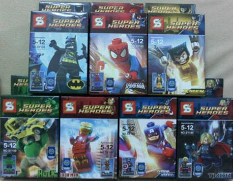 Lego Wolverine Xmen Mainan Anak X Batman Superman Spider mainan lego marvell 164 barang unik