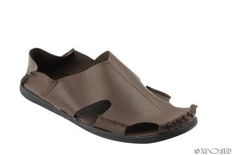 mens leather summer sandals mens soft real leather light weight shoes summer mules sandals black brown size ebay