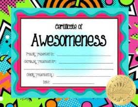 Certificate Of Awesomeness Template by 75 Best Images About Awards Borders Certificates Name