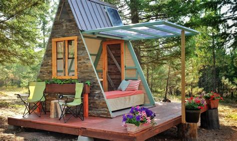small a frame cabins couple builds tiny a frame cabin in three weeks for only