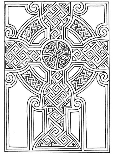 pattern art coloring pages celtic art free printable celtic cross patterns