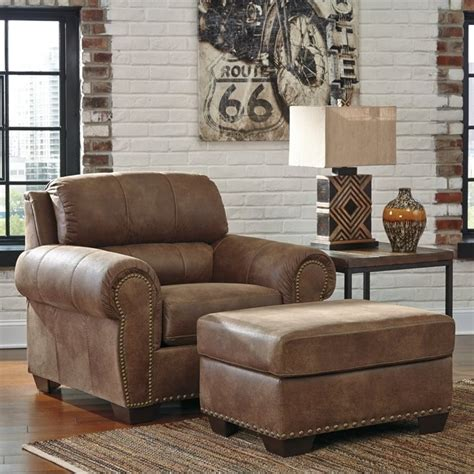espresso leather chair and ottoman burnsville faux leather chair with ottoman in