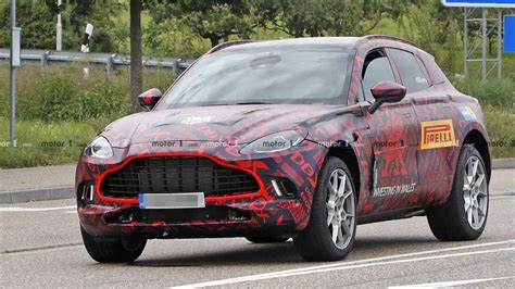 2020 aston martin dbx 2020 aston martin dbx spied up with production