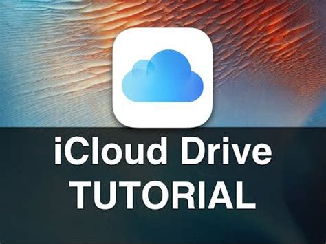 youtube tutorial icloud ijulio32 icloud drive ios9 tutorial ita youtube
