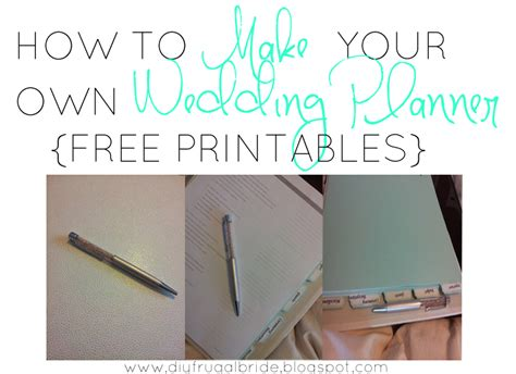 make your own planner free sleepless in diy bride country celebrating how to make