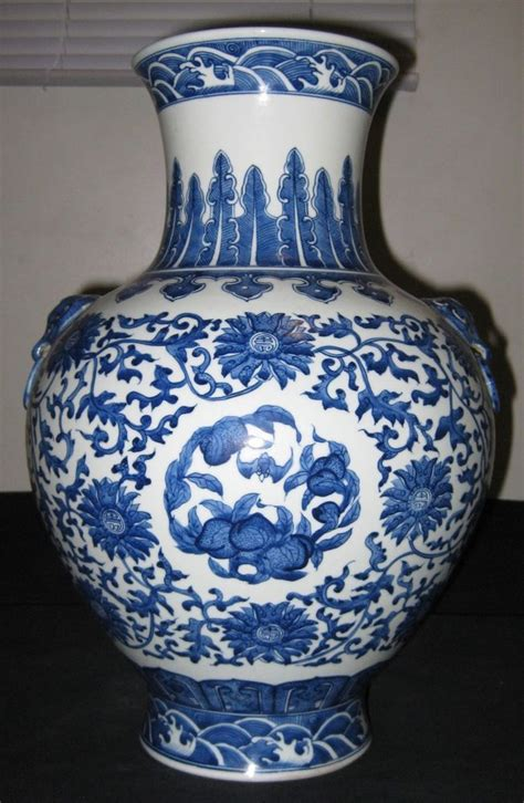 Antique Style Blue And White Porcelain Qianlong Vase 20 50 Picclick Antique Porcelain Blue White Vase Qianlong Nr Stuff To Buy