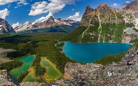 bing wallpapers as desktop background mountain lake photos nature canada yoho national park british columbia