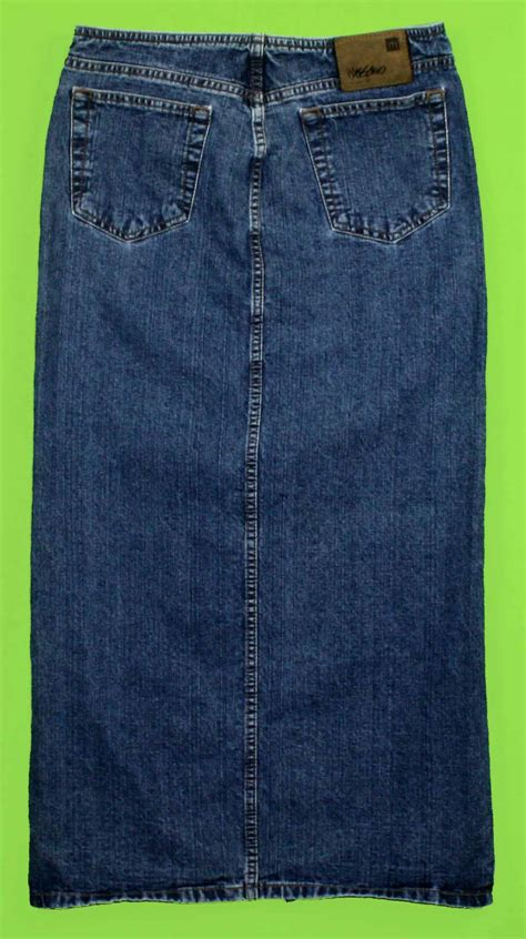 mossimo sz 5 womens juniors blue denim skirt kc80