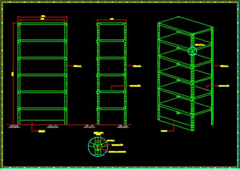 Industrial Bookcase by Metal Storage Shelve 2d Dwg Block For Autocad Designscad